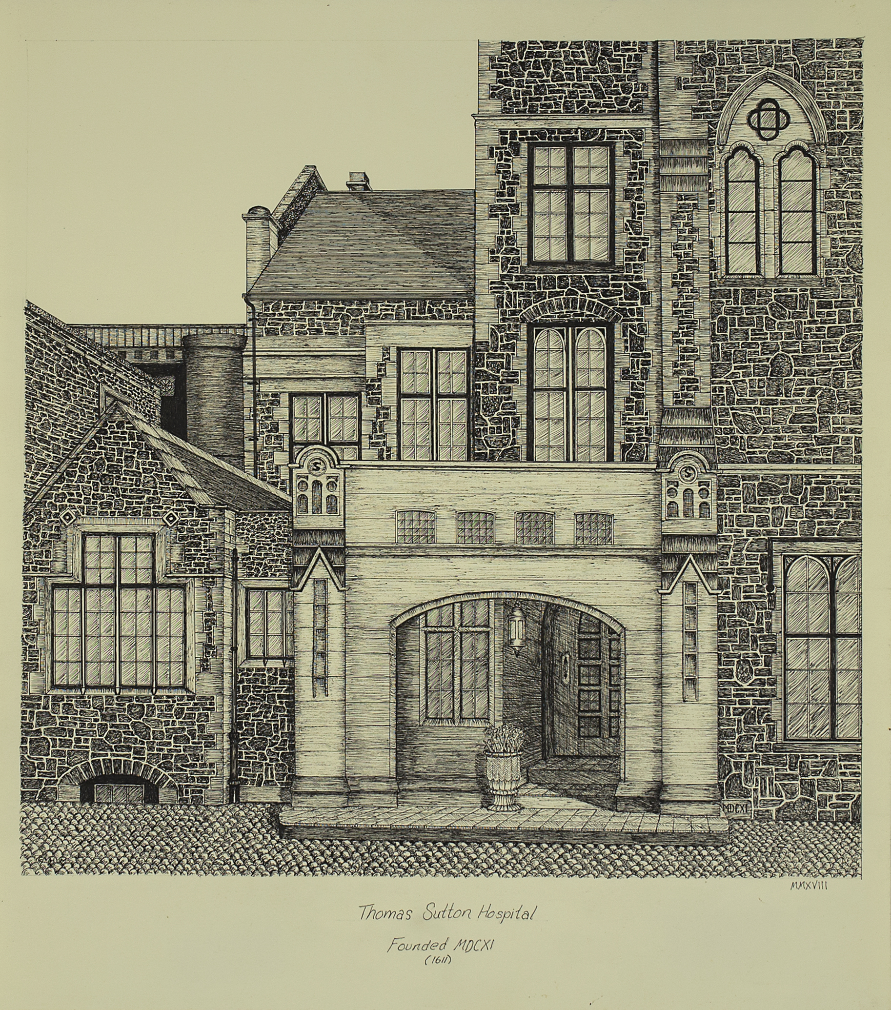 "Image of Gerald Martis Thomas' ""Sutton Hospital"""
