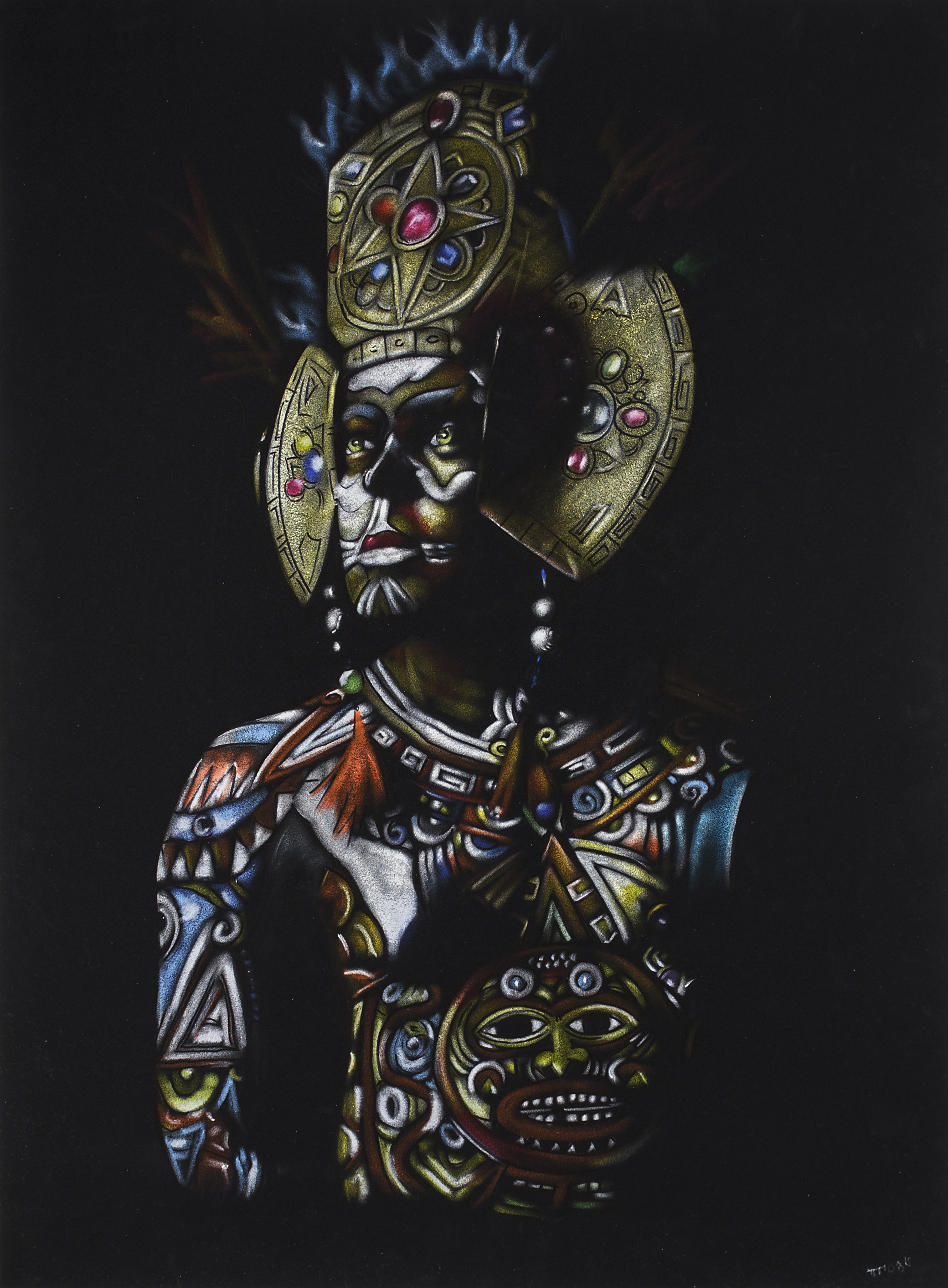 "Image of Theodore Moss' ""Warrior on Black"""