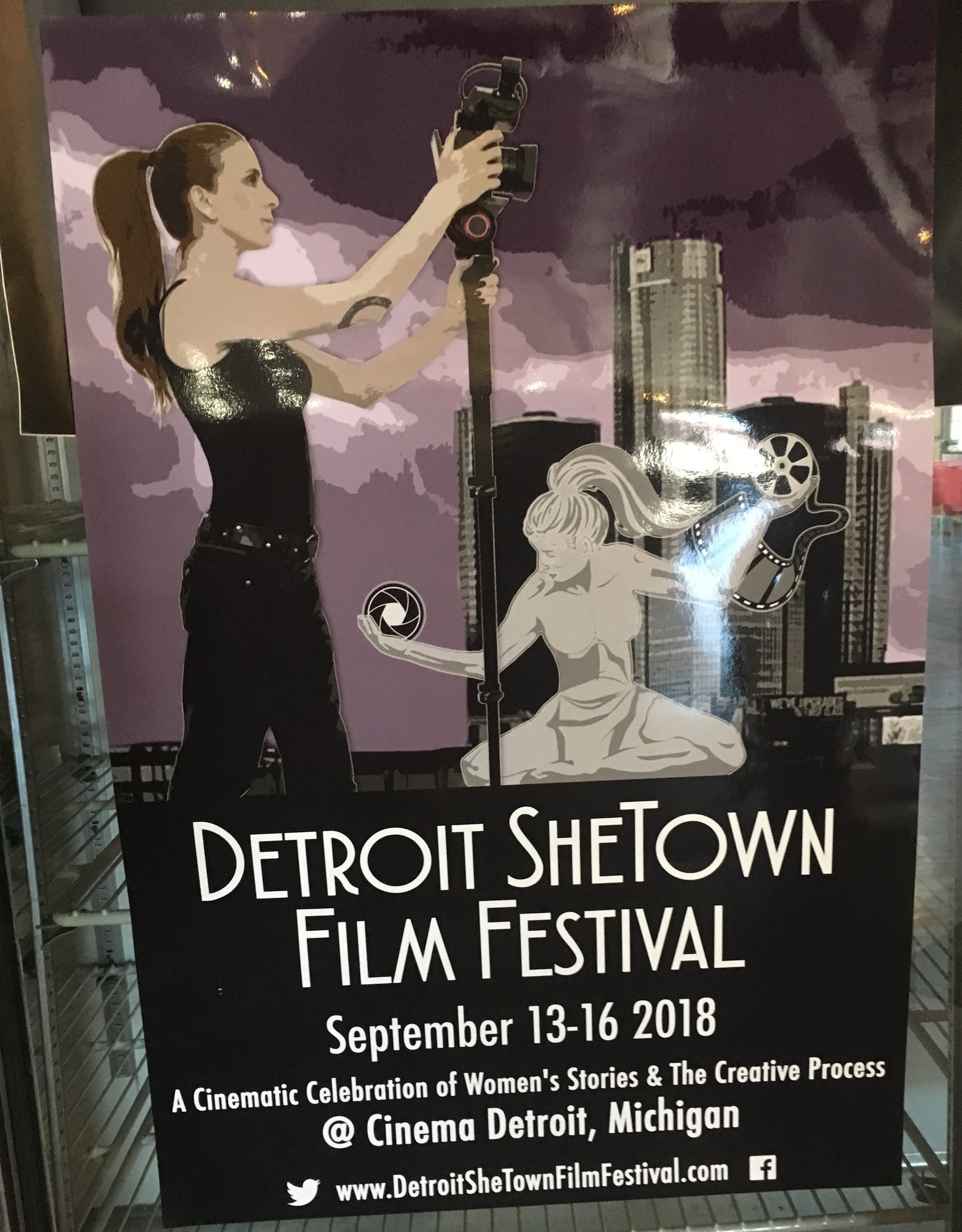 Poster for She Town Film Festival at Cinema Detroit Sept. 13-16, 2018