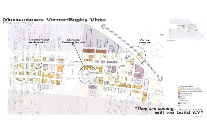 A map shows the neighborhood that will be involved in the updates.