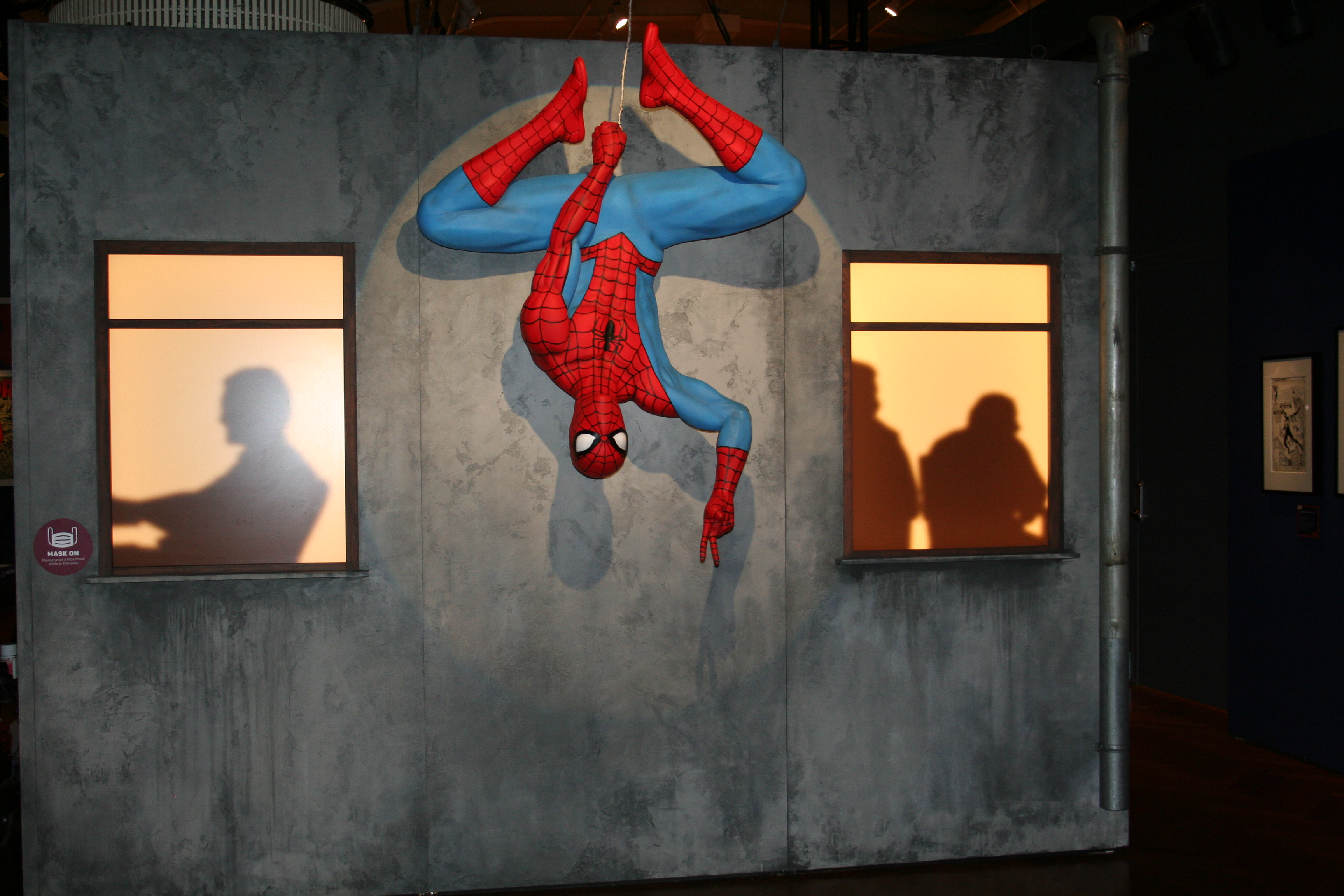 Spiderman exhibit part of Marvel Universe of Superheroes Henry Ford Museum of Innovation Dearborn MI