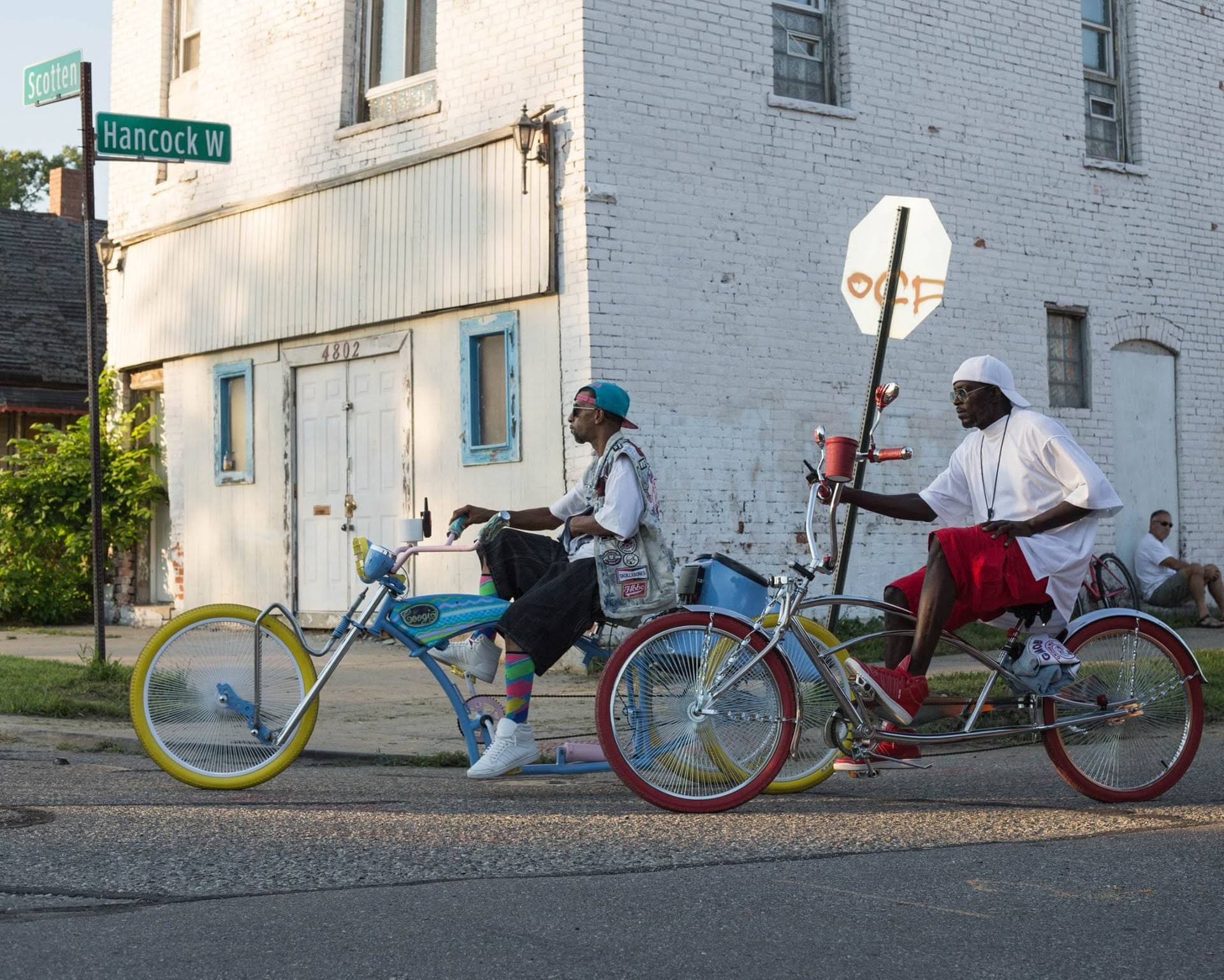 "Photo of people on bikes participating in Detroit's ""Slow Roll."""