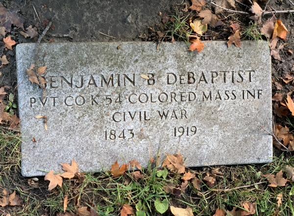 Civil war veteran from 54th all-Black regiment Benjamin D. Baptiste