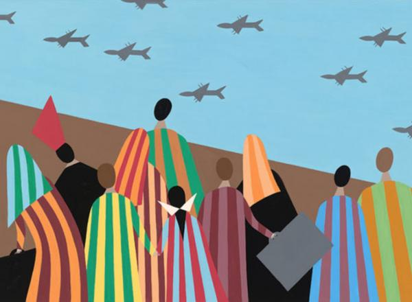 "Image of Helen Zughaib's ""Syrian Migration"""