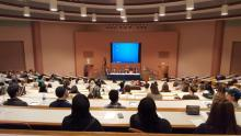 Photo of students in auditorium attending the 14th Annual Political Issues Conference at HFC
