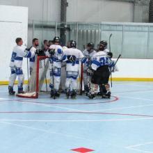 Photo of HFC's roller hockey team