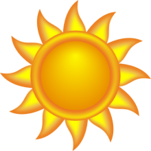 Clip art of the sun