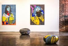 Photo of various artworks by Summer Wheat