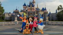 Photo of Disney characters in front of Disneyland castle. Credit - Joshua Sudock | Disneyland Resorts, Disney Enterprises, Inc.
