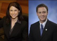 Candidates for Michigan Attorney General, Dana Nessel (D) and Tom Leonard (R). Photo Courtesy Gannett.