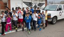 Photo of students at Downtown Boxing Gym