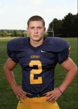 Photo of Dylan Meiring posing in a football uniform