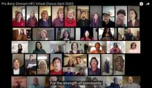 Henry Ford College Virtual Chorus sings Pro Bono Omnium courtesy HFC Marketing