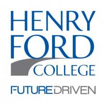 "Henry Ford College logo with slogan ""Future Driven"""