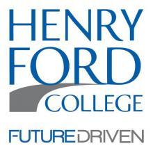 "Image of Henry Ford College logo Ford College logo with the ""Future Driven"" slogan"