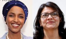 Side-by-side photos of Ilhan Omar and Rashida Tlaib
