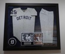 Photo of Detroit Tiger Mickey Lolich's uniform worn during the World Series in 1968