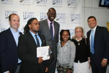 Image of Lt. Gov Gilchrist with HFC students and faculty
