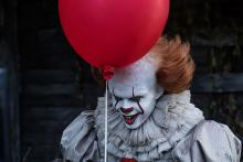 "Image of the clown from the ""IT"" movie"