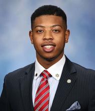 Portrait photo of Michigan State Representative Jewell Jones in suit and tie.