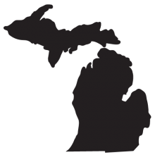 Clip Art of Michigan Silhouette