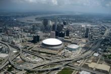 Photo of New Orleans from the air.