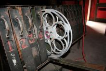 Photo of Original Movie Reel Storage in The Alger Theater's Projection Room