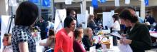 Photo of Career Expo at Henry Ford College courtesy of HFC Marketing