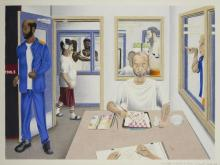 "Image of artwork by PCAP participant Christopher A. Levitt entitled ""The Painter: A Portrait of Prison"""