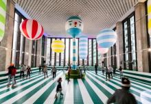 "Photo of Library Street Collective's ""Rainbow City Roller Rink"""