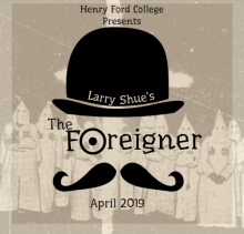 "Graphic for HFC's production of ""The Foreigner"""