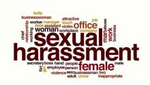 Sexual harassment word map.