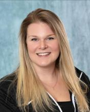Image shows a headshot of Henry Ford College volleyball coach Shannon Braun