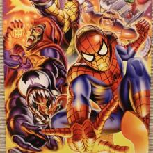 Image of Marvel Cards Montage featuring Spider-Man, Venom, and Green Goblin