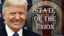 Trump State of the Union broadcast image courtesy The White House