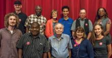 Working Class Party candidates for 2018. Back row: Gary Walkowicz, Sam Johnson, Mary Anne Hering, Logan Smith, Louis Palus, Andrea Kirby. Front row: Thomas Repasky, Larry Betts, Philip Kolody, Kathy Goodwin, Hali McEachern. Photo courtesy Working Class Party