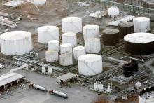 Aerial picture of the Marathon Michigan Oil Refinery