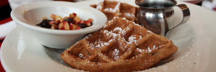 Gingerbread waffles at The Fly Trap