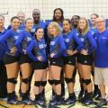 Photograph of Henry Ford College volleyball team