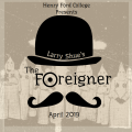 """Graphic for HFC's production of """"The Foreigner"""""""