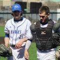 Tyler Kelly (pitcher) and Dakota Mahkimetass (catcher)