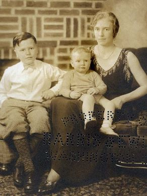 Photo of John Dingell as a child with his brother Jim and mother Grace Blossom Bigler