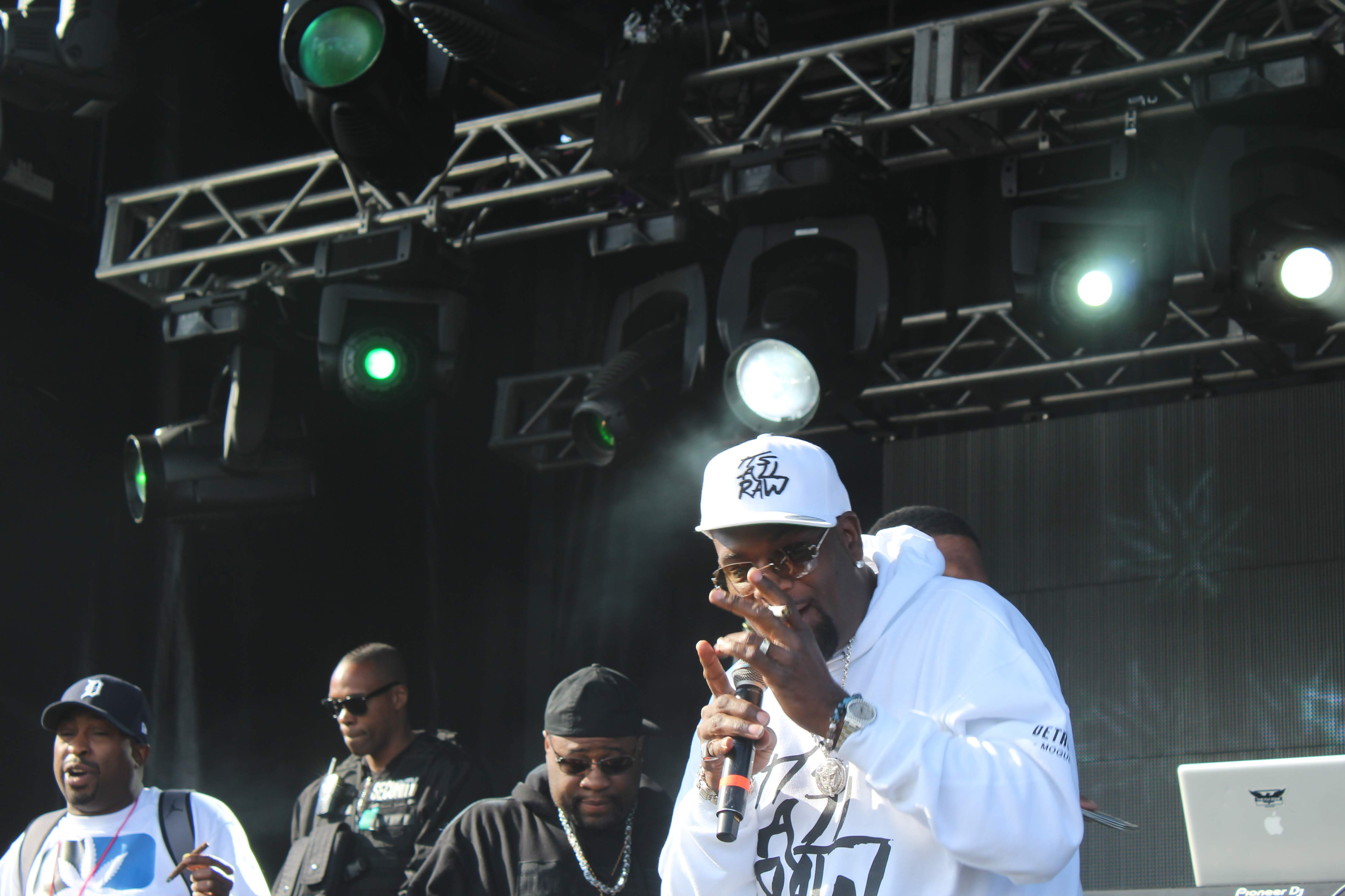 Photo of rapper Trick Trick performing at Midwest Cannabis Cup