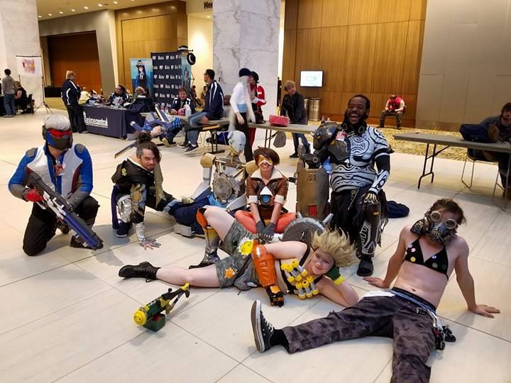 Participants of cosplay at 2017 Youmacon in Detroit
